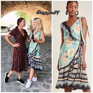 NWT, Anthropologie, Farm Rio Monica Wrap Dress